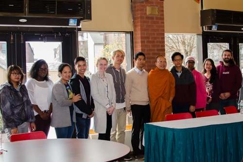 Venerable Kou Sopheap and MCC students
